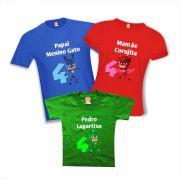 Camisas de Aniversário PJ Masks Heróis de Pijama