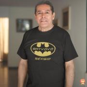 Camiseta BatVovô Personalizada com Nome