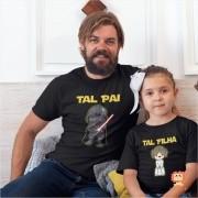 Camiseta e Roupinha de Bebê Star Wars Tal Pai Darth Vader e Tal Filha Princesa Leia