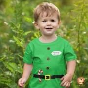 Camiseta Infantil Ajudante do Papai Noel Natal