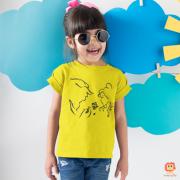 Camiseta Infantil ou Body de Bebê A Bela e a Fera