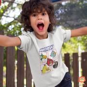 Camiseta Infantil ou Body Personalizado com Nome Angry Birds