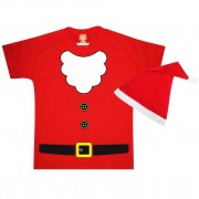 Camiseta Infantil Papai Noel com Gorro