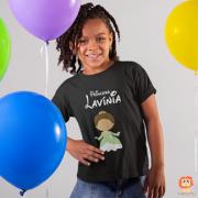 Camiseta Infantil Princesa Tiana Personalizada com Nome