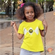 Camiseta ou Body Power Ranger Amarelo
