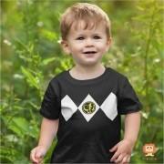 Camiseta ou Body Power Ranger Preto