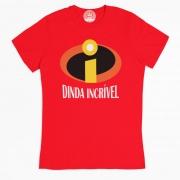 Camiseta para Madrinha Dinda Incrível