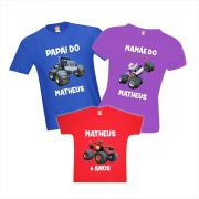 Camisetas Aniversário Blazer And The Monster Machine Festa