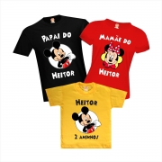 Camisetas Aniversário Personalizadas Festa Mickey