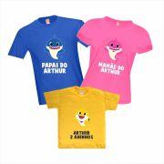 Camisetas de Aniversário Baby Shark Personalizadas