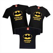 Camisetas de Aniversário Batman Super Heróis
