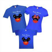 Camisetas de Aniversário e Viagem Disney Mickey Personalizadas com Nome