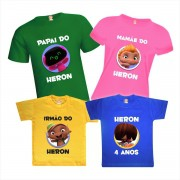 Camisetas de Aniversário Mini Beat Power Rockers Festa