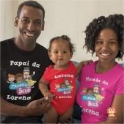 Camisetas de Aniversário Mundo Bita Nome Personalizado