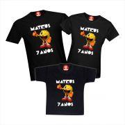 Camisetas de Aniversário Pac Man Personalizadas Com Nome