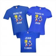 Camisetas de Aniversário para Família Sonic