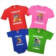 Camisetas de Aniversário Patrulha Canina Marshall Skye Chase Rocky