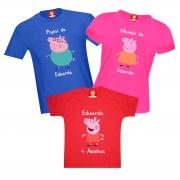 Camisetas de Aniversário Peppa Pig
