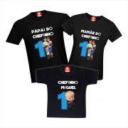 Camisetas de Aniversário O Poderoso Chefinho Baby Boss Personalizadas Com Nome