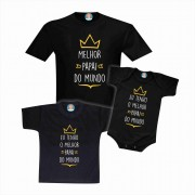 Camisetas e Roupinha Melhor Papai do Mundo Dia dos Pais Irmãos