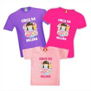 Camisetas Personalizadas Festa Circo Rosa