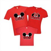 Camisetas Personalizadas Viagem Disney Mickey Minnie Dad Mom Son