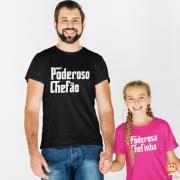 Camisetas Tal Pai Tal Filha Poderoso Chefão e Chefinha