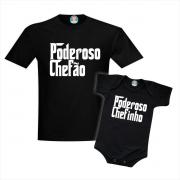 Camisetas Tal Pai Tal Filho Poderoso Chefão e Chefinho