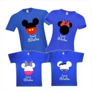 Camisetas Viagem Disney Mickey Minnie Margarida Pato Donald