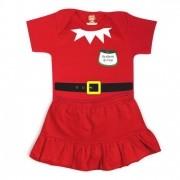 Conjunto Infantil de Natal Body e Saia  Ajudante do Noel