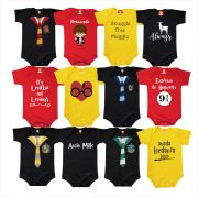 Kit 12 Bodys Harry Potter Casas de Hogwarts