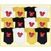 Kit 12 Bodys Mesversário Mickey Disney
