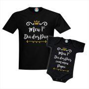 Kit Camiseta e Body Primeiro Dia dos Pais Coroa