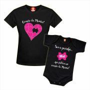 Kit Camiseta e Body Sou a Pecinha Que Faltava No Coração da Mamãe