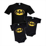 Kit Camiseta e Bodys BatPai e BatFilhos - Gêmeos ou Irmãos