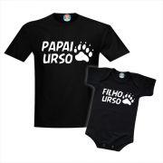 Kit Camiseta Pai e Filho Urso