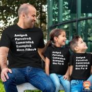 Kit Camisetas Amigo Parceiro Camarada Exemplo 3pc