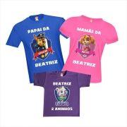 Kit Camisetas Aniversário Patrulha Canina
