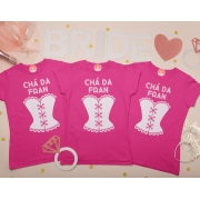 Kit Camisetas Chá da Noiva Bride