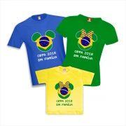 Kit Camisetas Copa do Mundo Brasil Mickey e Minnie