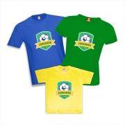 Kit Camisetas de Aniversário Copa do Mundo