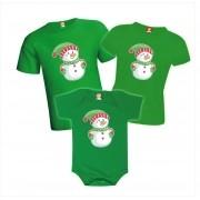 Kit Camisetas de Natal Boneco de Neve