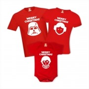 Kit Camisetas de Natal Star Wars Merry Christmas