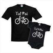 Kit Camisetas Eu Curto Bike com o Papai - Ciclismo