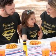 Kit Camisetas Família Mulher Maravilha Ouro
