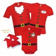 Kit Camisetas Família Noel com Filho Ajudante do Noel