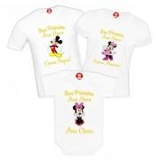 Kit Camisetas Família Primeiro Réveillon Disney Mickey e Minnie