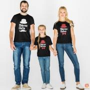 Kit Camisetas FamíliaChefão Chefona e Chefinha