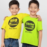 Kit Camisetas Irmãos Big Brother e Little Brother