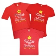 Kit Camisetas Mais Um Natal em Família